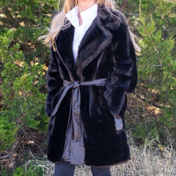 Faux Fur Coat / Vintage Faux Fur / Faux Fur Coat w