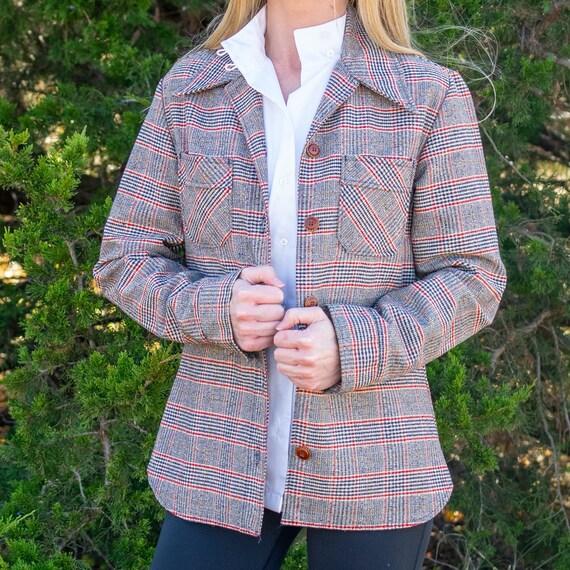 Lady Wrangler Plaid Jacket / Vintage Plaid Blazer