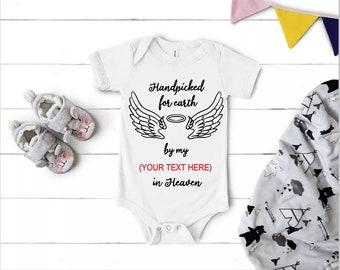 Angel Wings Baby Bodysuit Baby Boy Onesie Baby Shower Gift Chrismas Gifts for Baby Boy Short Sleeve Bodysuit
