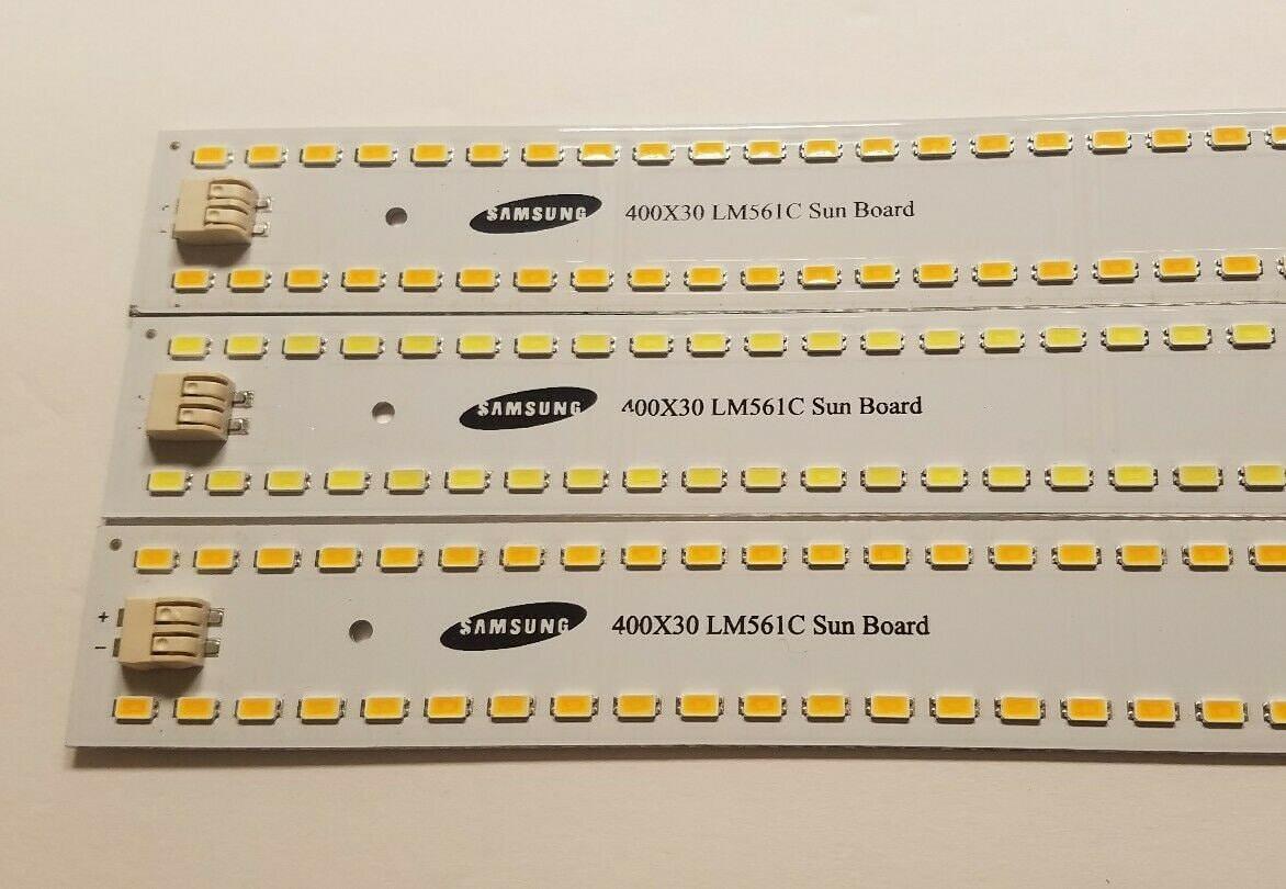 4x Sun Board 96 LED 2700k Samsung lm561c Strip Quantum Grow Light HLG Driver DIY