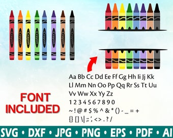 Crayon Wrapper Svg Teacher Svg Crayon Font Svg Crayola Svg School Svg Art Party Svg Crayon Monogram Svg Cricut Pencil Svg Instant Download Paruhpsd