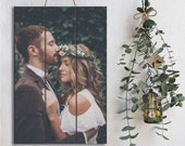 HD Christmas Gift Pallet Art on Wood Portrait Pallet Sign Rawkrft - Photo Gift for Him Wedding Gift Rustic Home Decor Anniversary Gift