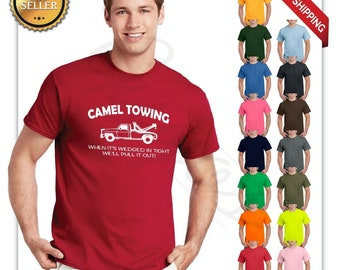 0c3d8100 Camel towing funny t shirt adult humor rude gift tee shirt tow truck unisex  tee