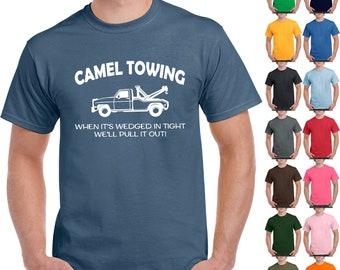 a9b7faafb Camel towing funny t shirt adult humor rude gift tee shirt tow truck unisex  tee