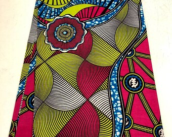 High Quality 100/% cotton African Wax Print FabricsAnkara Wax PrintAfrican Wrapper PrintKitenge Wax Print For Dresses Head Tie 1 Yard