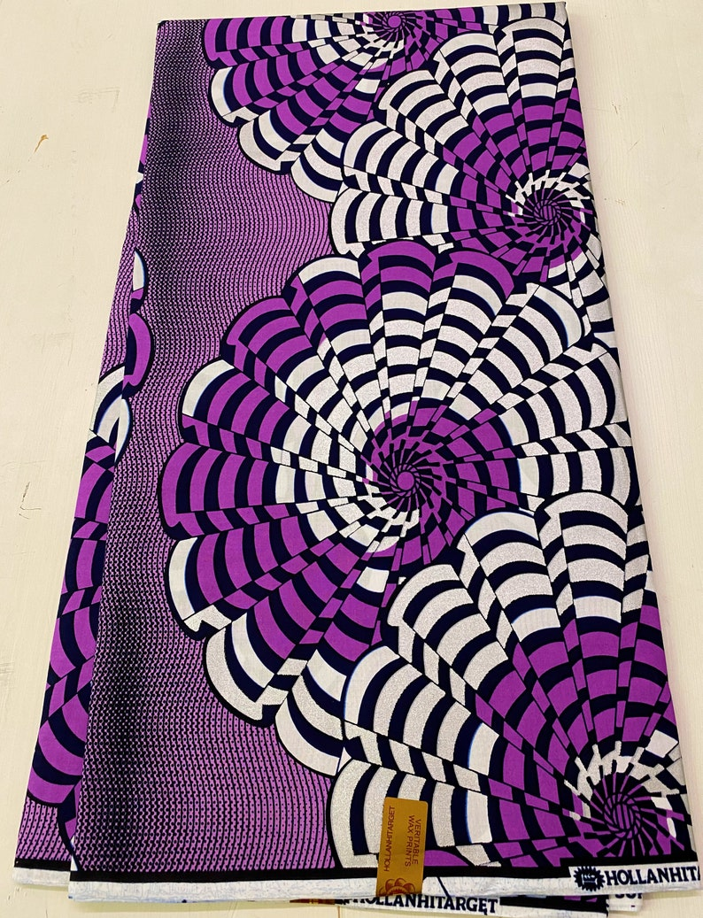 High Quality Veritable Wax Sell by 6 yards Exclusive Design Metallic Silver 100 /% Cotton