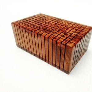 FAST Shipping** Secret Jewelry Box Case Puzzle LOCK box wooden craft Wooden Magic Puzzle Wooden puzzle box Gift Wooden Box