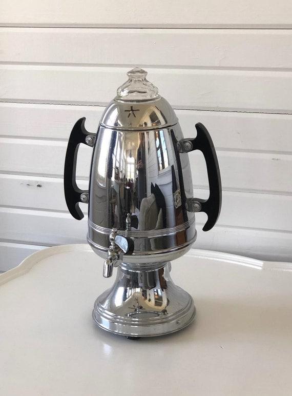 Art Deco Coffee Percolator Coffee Urn And Beverage Dispenser 1940s Vintage Drink Dispenser Retro Mid Century Modern Atomic Age