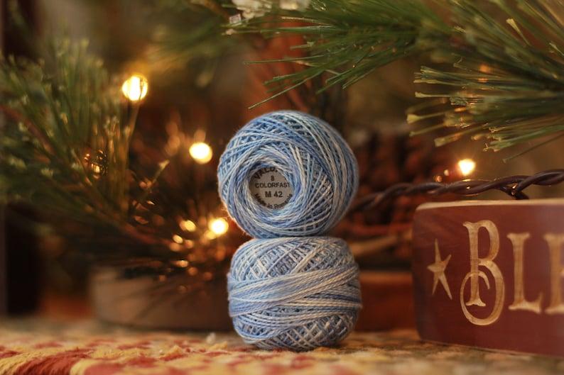 M42 Valdani Perle Cotton Size #8 Summer Sky 1 ball
