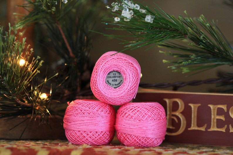 1 BALL Valdani 458 Size 12 Pink Peony