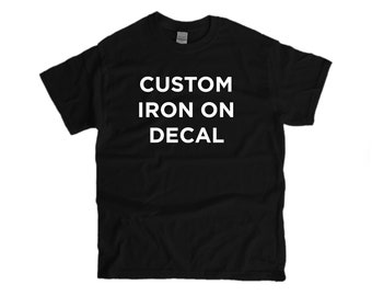 Any logo or text on on T-shirt Transfer Logo Vinyl Only EXPLORE