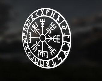 Viking Compass Decal - Vegvisir Sticker Decal - Car Decal - Tumbler Decal - Laptop Decal - Wayfinder Viking Compass Vegvisir Sticker