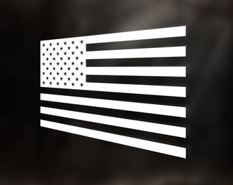 American Flag Decal - Stars and Stripes Vinyl Sticker Decal - Car Window Decal - Tumbler Decal - Laptop Decal - Battle American Flag Sticker