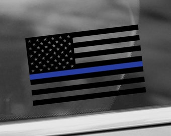 blue line decal