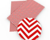 RED WHITE Chevron Canvas Sheet, Red and White Chevron Fabric Sheet, Synthetic Leather Sheet, Faux Bows
