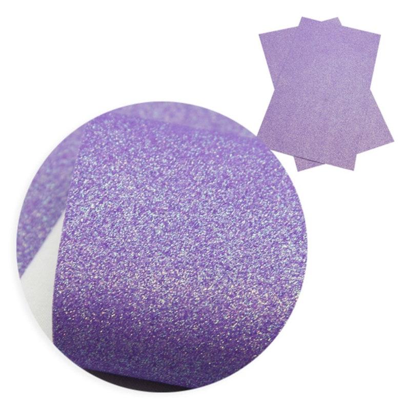 Glitter Fabric Sheet Fine Glitter Fabric Synthetic Leather Sheet FINE GLITTER Thin and Soft Fabric Sheets