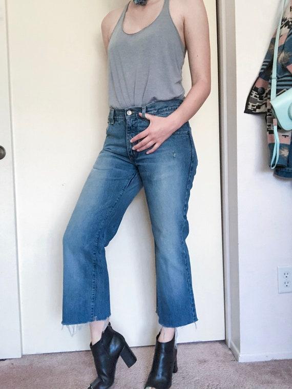 "Vintage Gucci cropped jeans 34"" Waist"