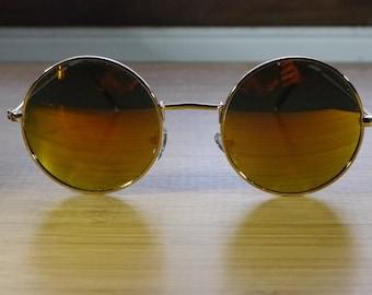 88bdbd61ed Oversized Retro Style Round Hipster Sunglasses