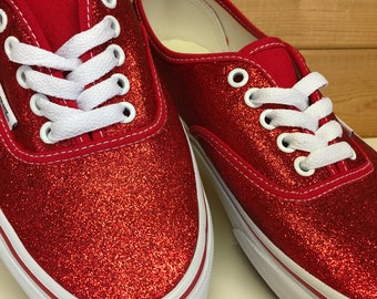 Ruby Red Glitter Vans Authentic 8ff24307e