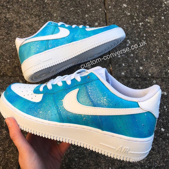 Ocean Dream Hand Painted Nike Air Force 1 Trainers