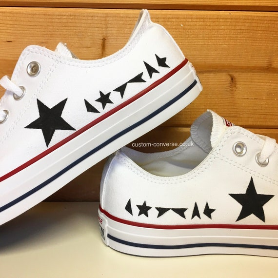 converse black star
