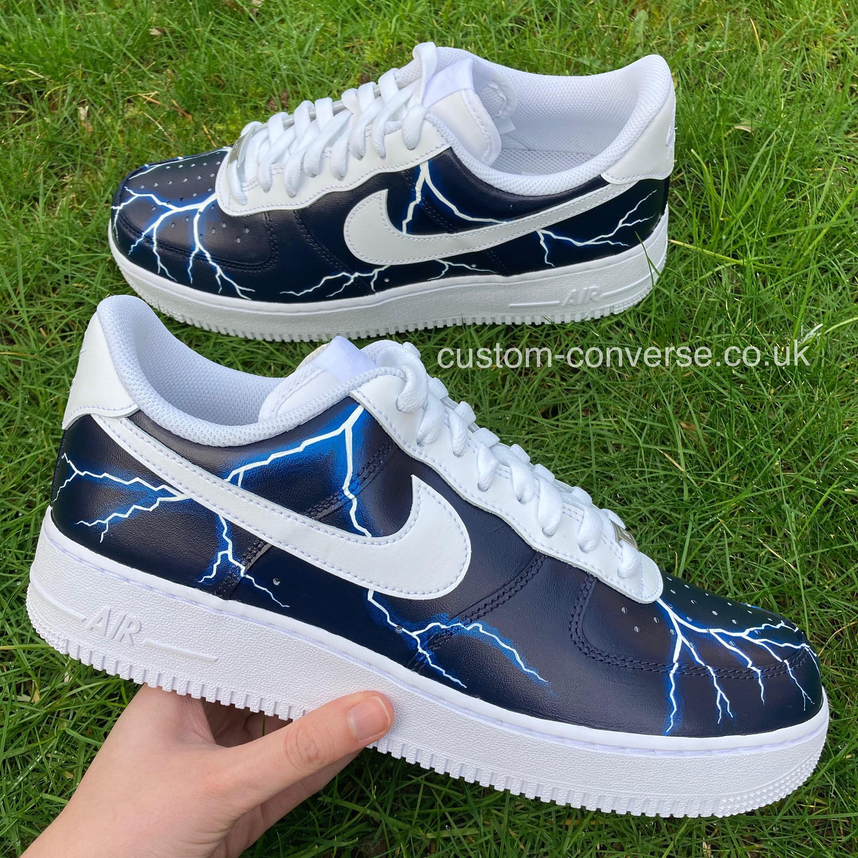 Lightning Storm Nike Air Force 1 Custom Trainers