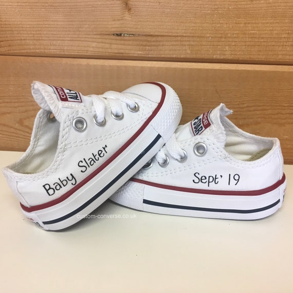 Kids Personalised Converse Trainers   Etsy