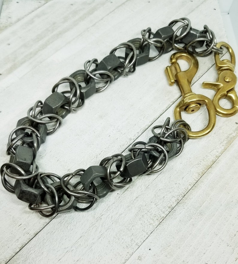 Wallet Chain Byzantine Chainmaille Brass Clips Steel Nuts