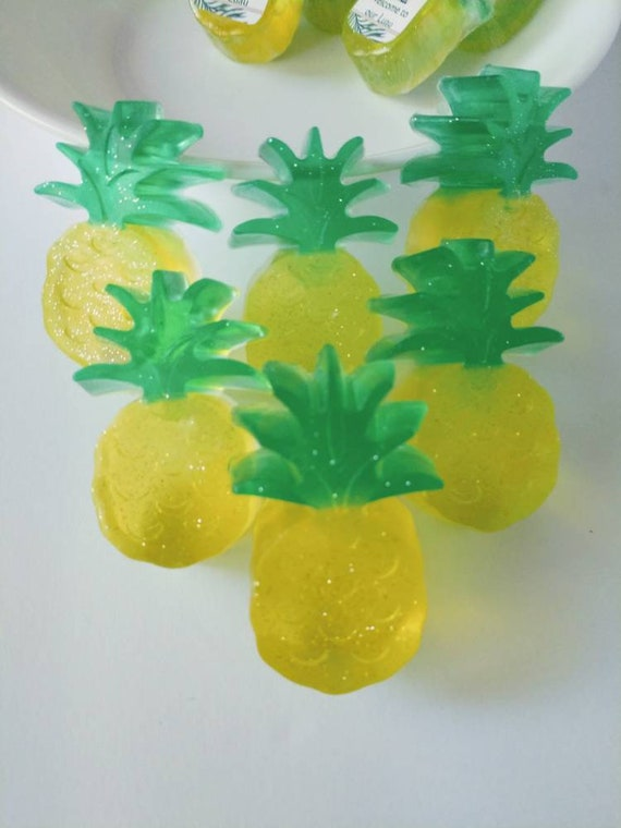 Soap Party Favors Pineapple Pineapple Soap Pineapple Party Favors Kids Handmade Soap Summer Soap All Natural Soap Pineapple Birthday