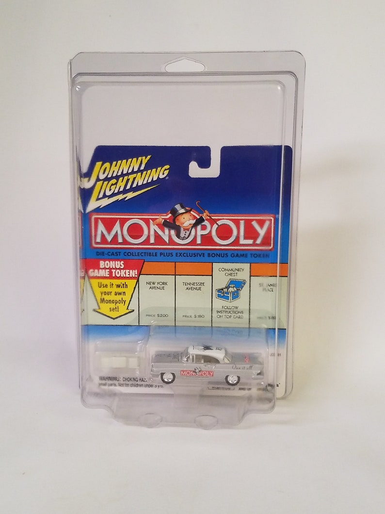 Johnny Lightning Monopoly die-cast metal car with game token counterpart 2001 Income Tax /'57 Lincoln MIB