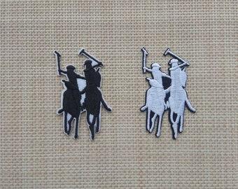 e84210f8a 3.7*7 cm Polo Logo Emblem Brand Iron On Patch Embroidery Applique