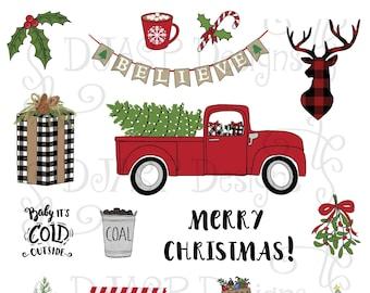 Christmas digital planner stickers
