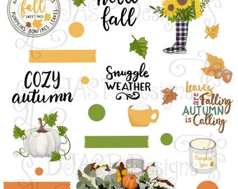 Digital Stickers Autumn