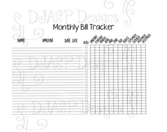 Bill tracker for landscape digital planner