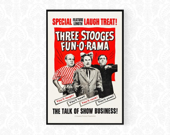 A3 A2 A1 The 3 Stooges Vintage Movie Poster A4 sizes