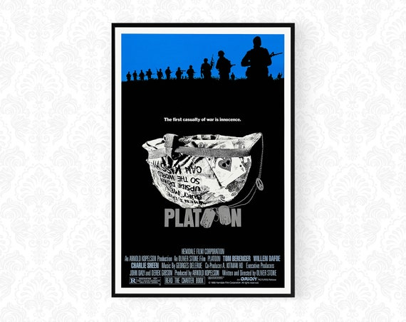 Platoon Movie Poster A4 A3 Platoon Poster Prints War Movie Posters