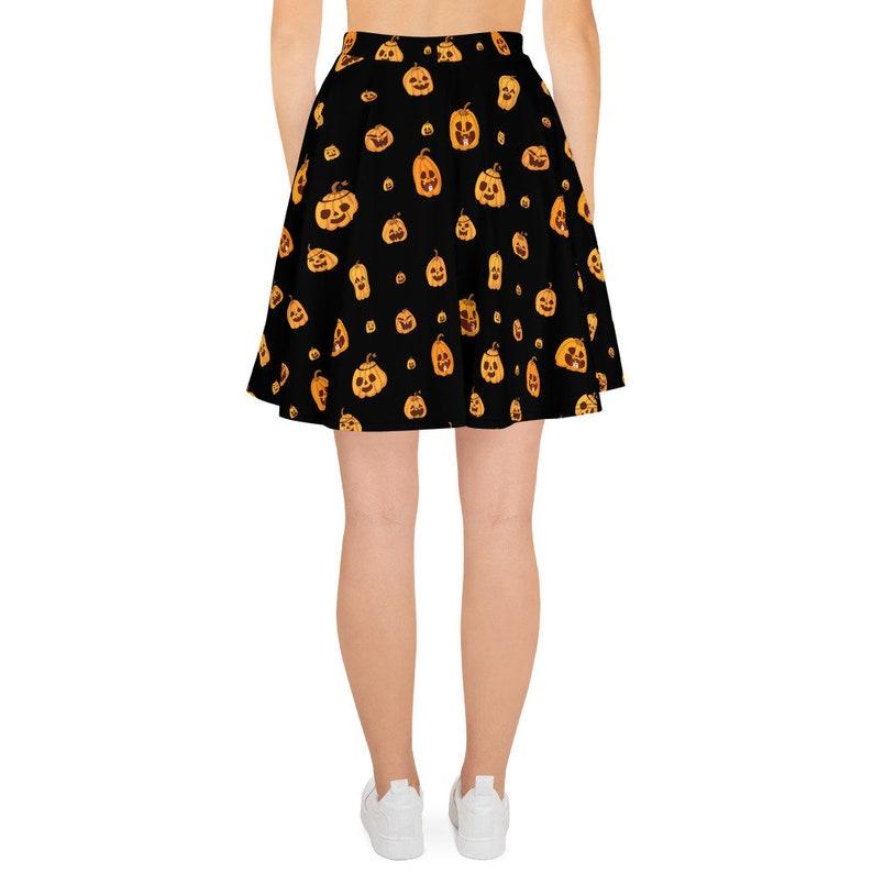easy costume halloween costume halloween outfit pumpkins simple halloween costume Halloween Skater Skirt jack o lantern skirt