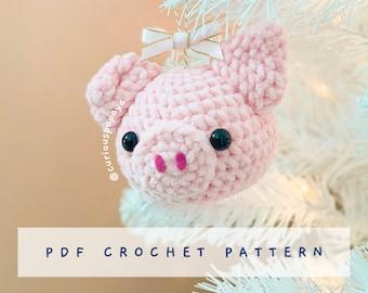 Piggie Ornament Crochet Pattern