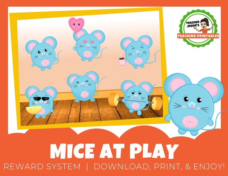 image about Vipkid Reward System Printable identified as Mice Printable Benefit Incentive Approach for ESL On the web Education VIPKid, GogoKid, Magic Ears ** Electronic Obtain