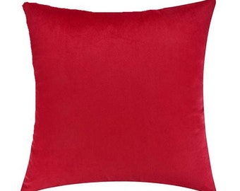 Red accent pillow | Etsy