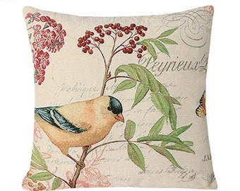 Bird Throw Pillow Etsy