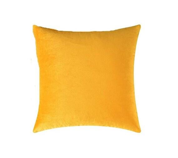 Mustard Yellow Velvet Throw Pillow