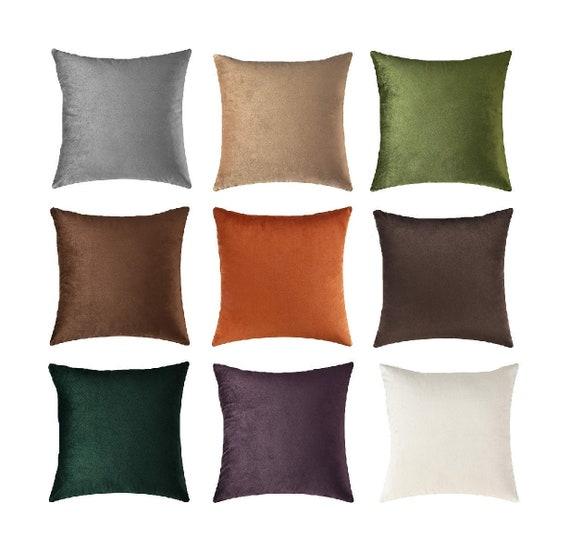 Earthy velvet lumbar pillow cover