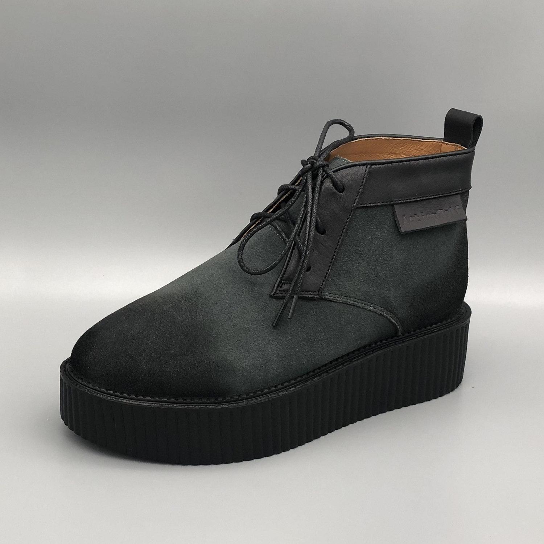 4f76392413416 Men's Handmade Platform Suede Leather Ankle Boots