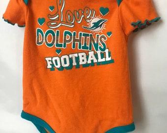 Miami Dolphins Girl Onesie 6-9 Months 114dc70fe