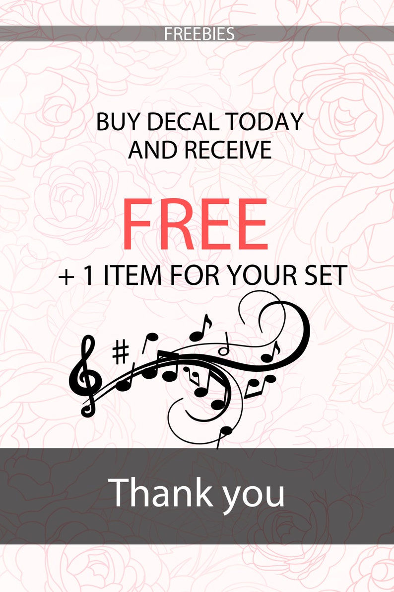 Violin Wall Decal | Notes Wall Art | Instrument Violin Wall Stickers |  Classical Music Wall Decor | Violin Wall Graphics
