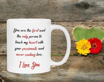 Touches a heart mug | Etsy
