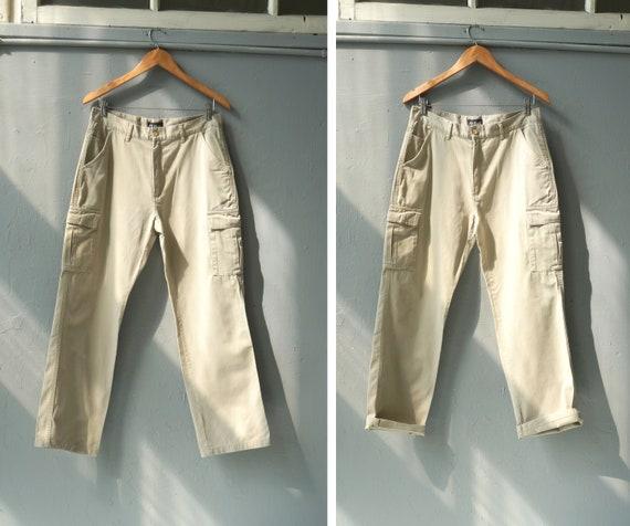 Vintage 90s Cargo Pants Beige Cargo Pants Mens Uti