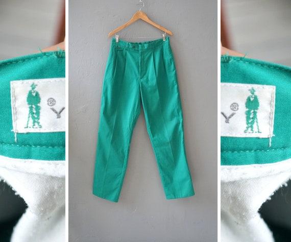 Vintage Golf Pants Green Golf Pants Men Green Pant