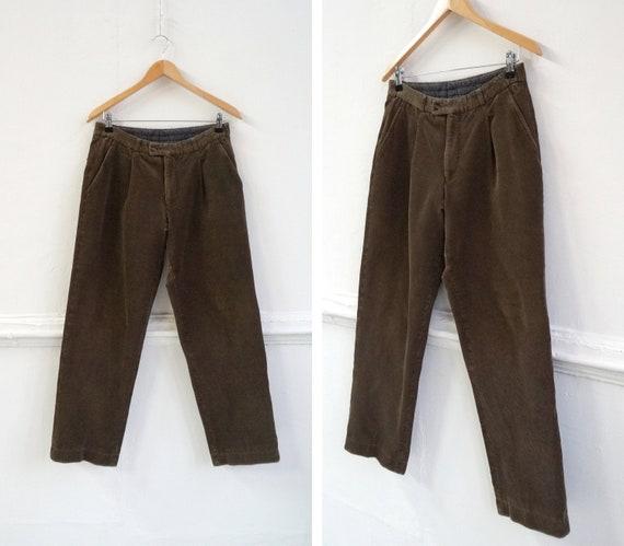 Vintage Corduroy Pants Brown Corduroy Trousers W31